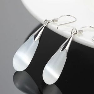 Sterling Silver Moonstone Dangle Earrings